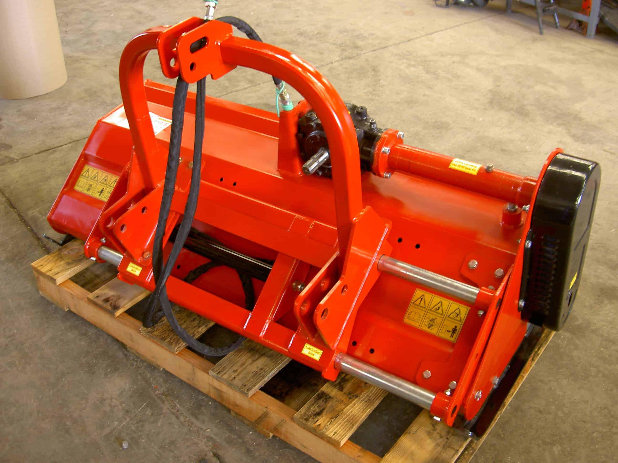 48″ Commercial Duty Adjustable Deck Flail Mower w/Hydraulic Offset,  VL-MF125CMADH