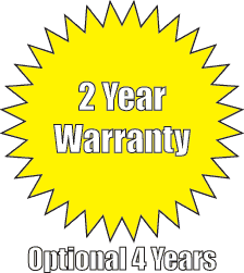 2 year warranty with optional 4 years