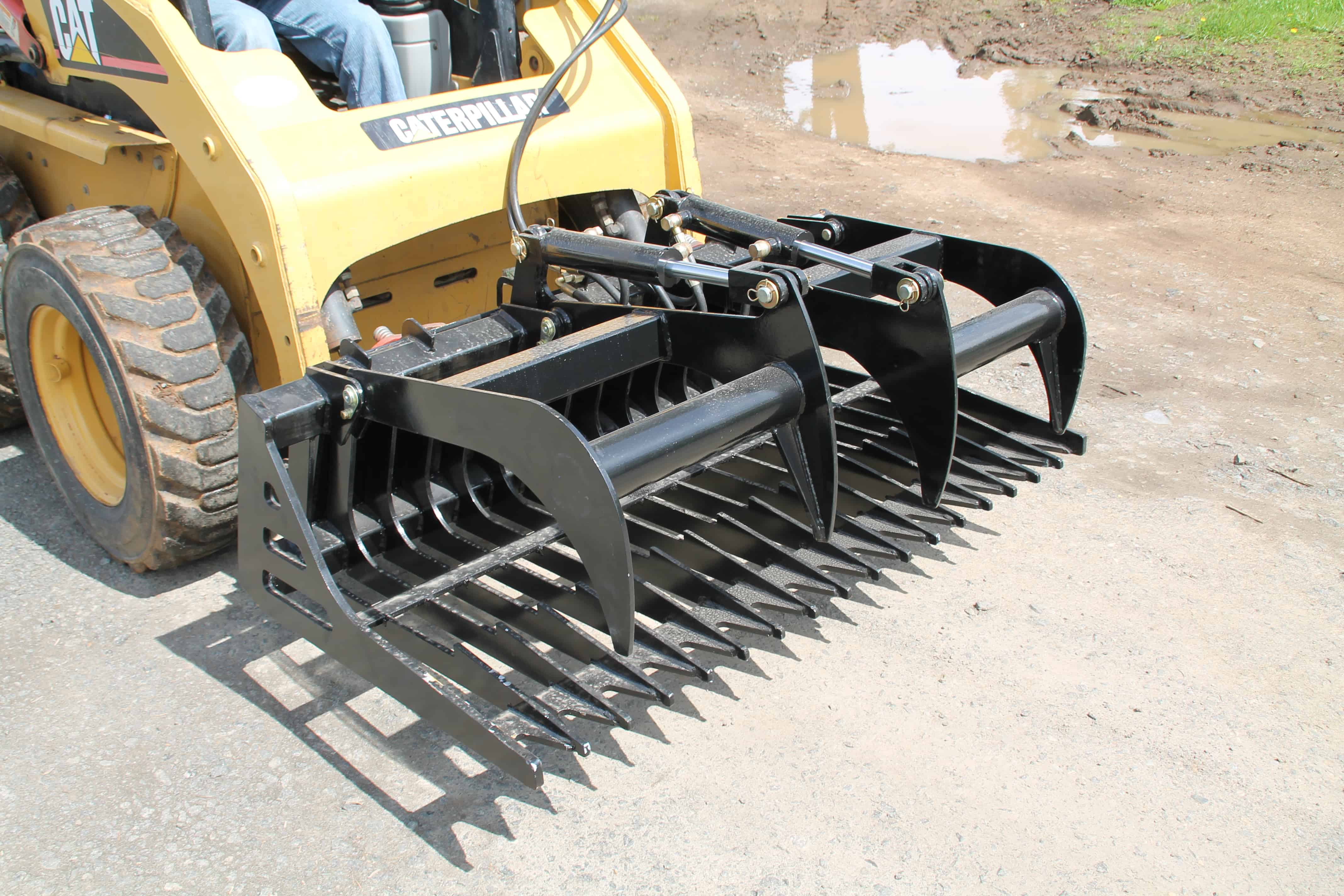 Grapple Brush 60 Quot Skid Steer Universal Quick Attach Sk