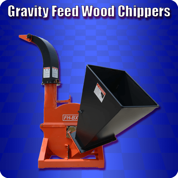 gravity feed wood chipper