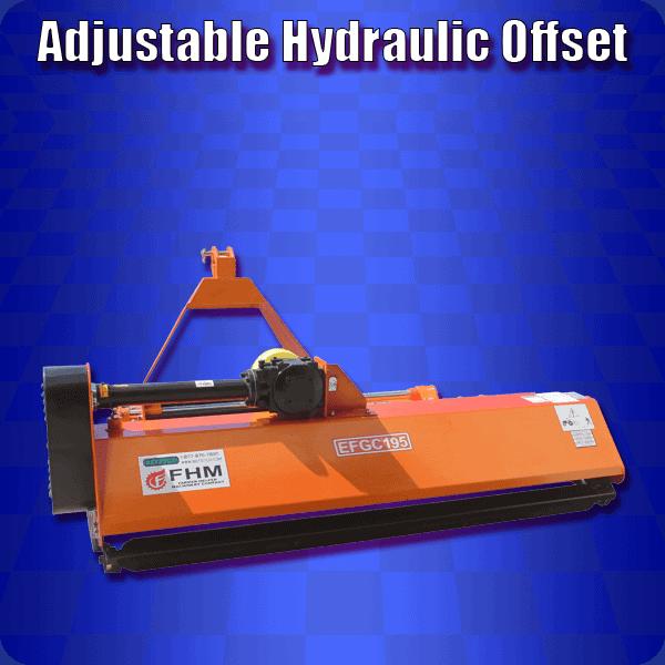 adjustable hydraulic offset mowers