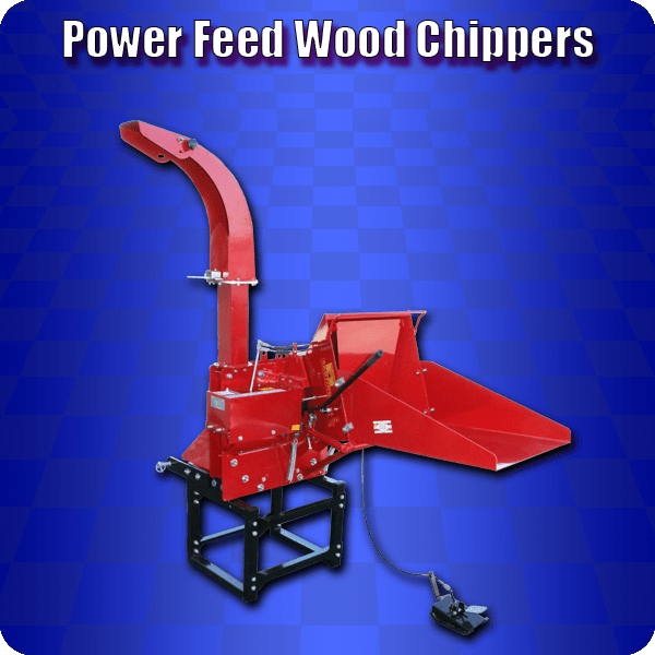 power feed wood chippers