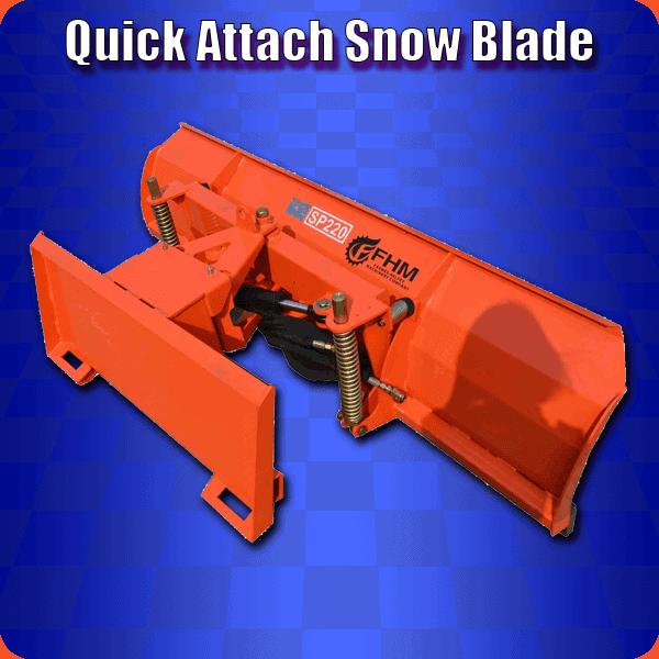 Quick Attach Snow Blade